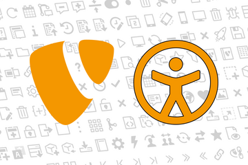 TYPO3 and Accessibility logos