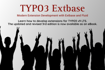 Happy people embracing the 3rd edition of the TYPO3 Extbase book